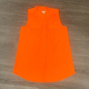 J. Crew Orange Blouse